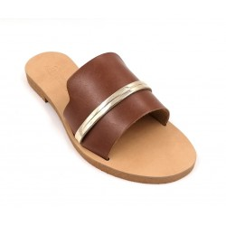 Leather Flat Sandals (20)